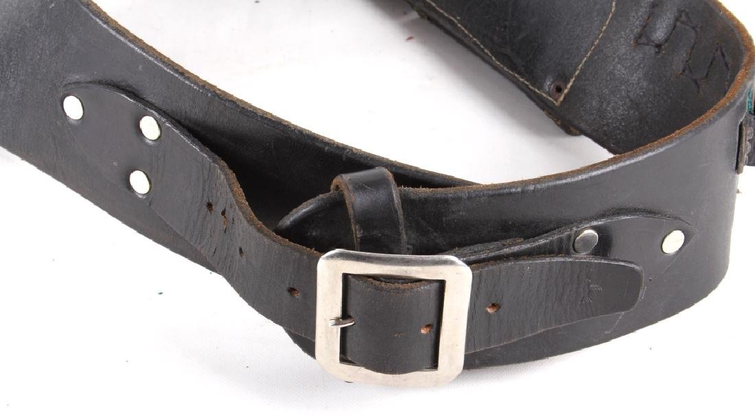 Early Leather Ammo Belt & Colt Walker Holster - 5