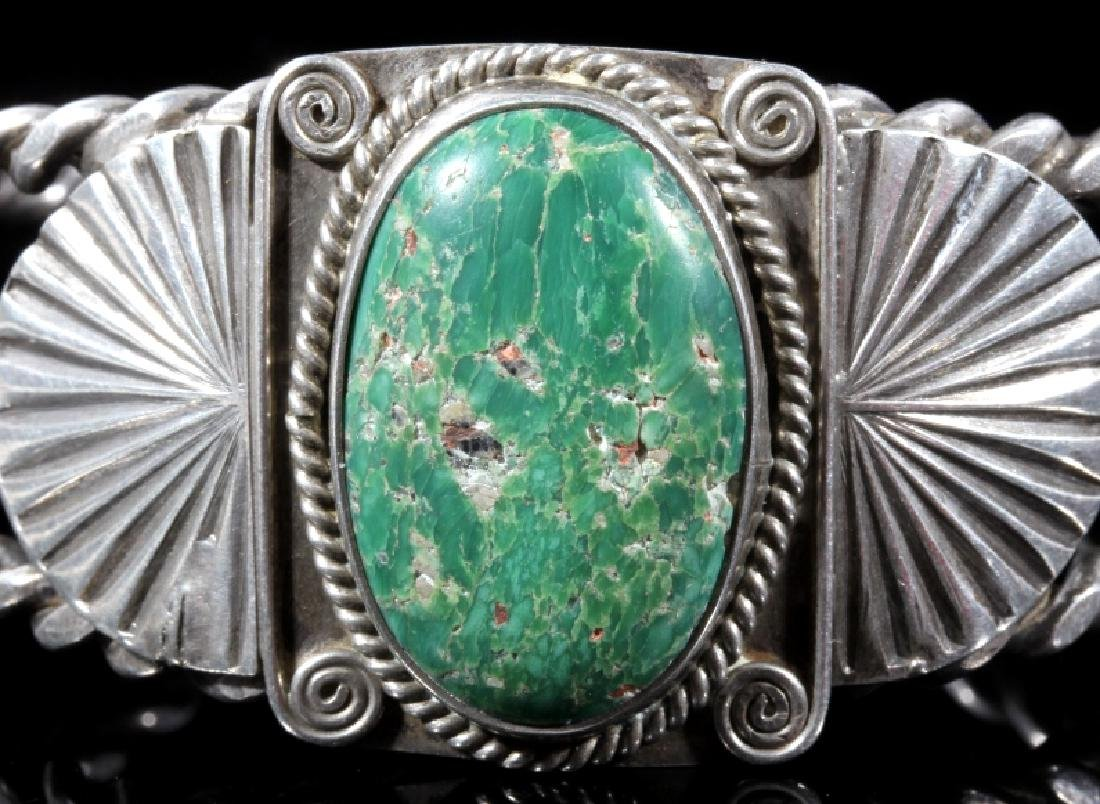 Navajo Turquoise and Sterling Silver Bracelet - 3
