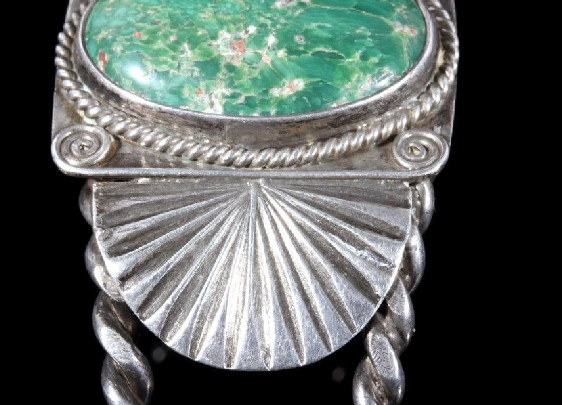 Navajo Turquoise and Sterling Silver Bracelet - 4