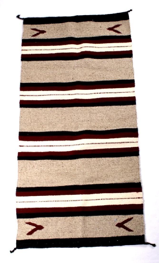Navajo Native American Pattern Wool Runner Rug