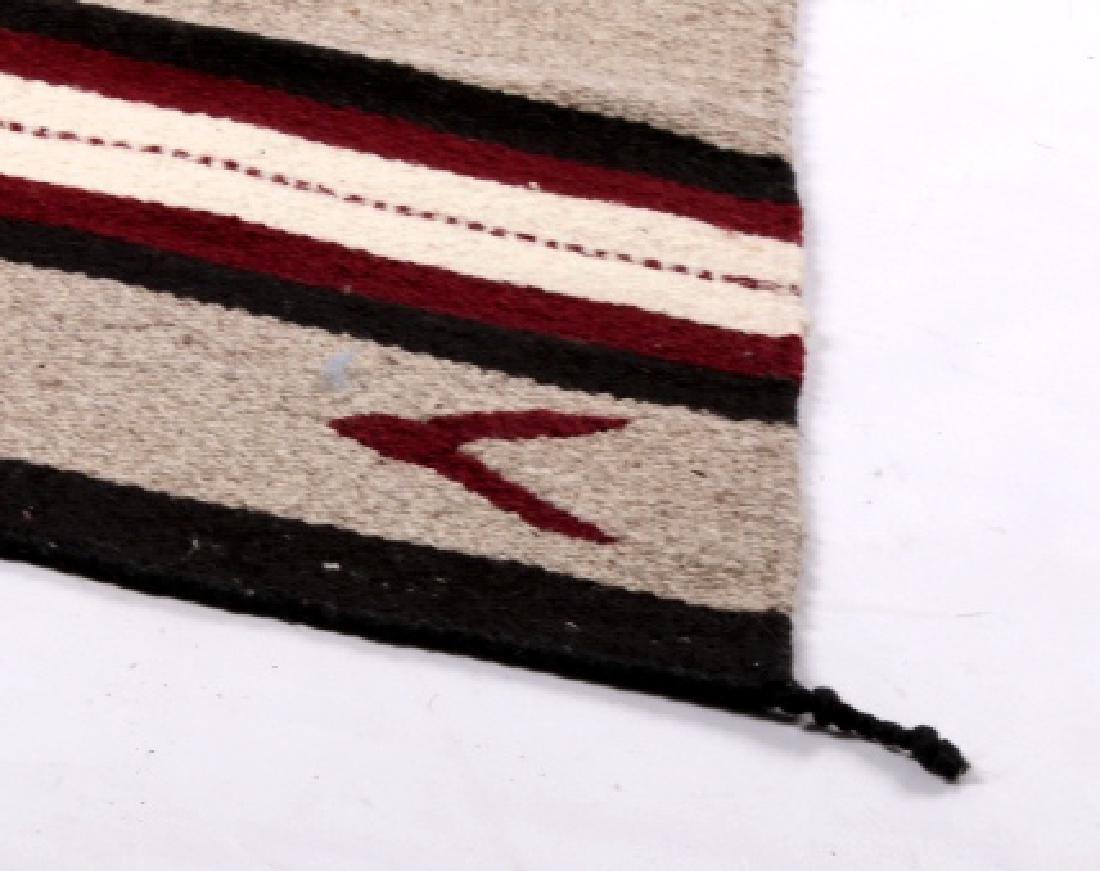 Navajo Native American Pattern Wool Runner Rug - 2