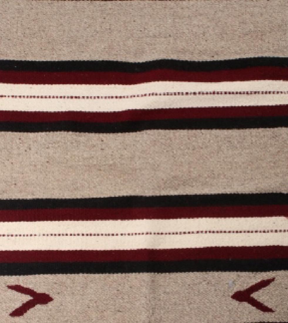 Navajo Native American Pattern Wool Runner Rug - 4