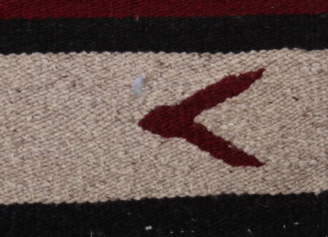 Navajo Native American Pattern Wool Runner Rug - 5