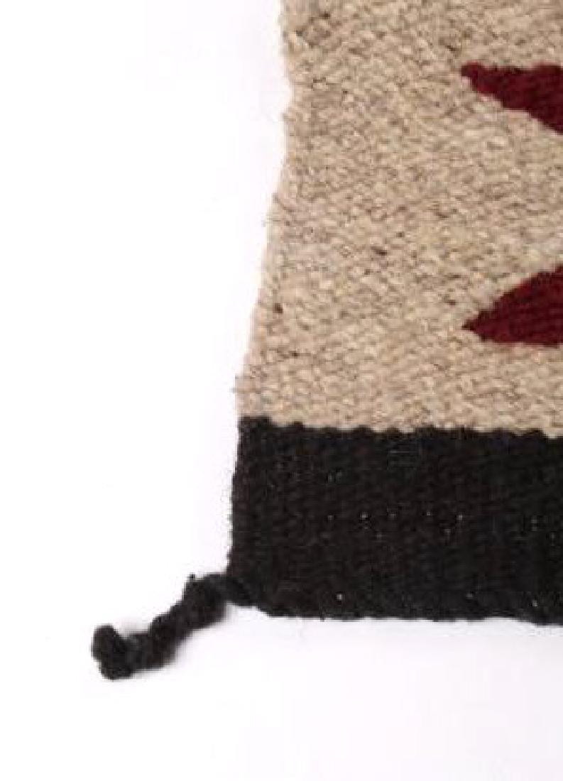 Navajo Native American Pattern Wool Runner Rug - 9