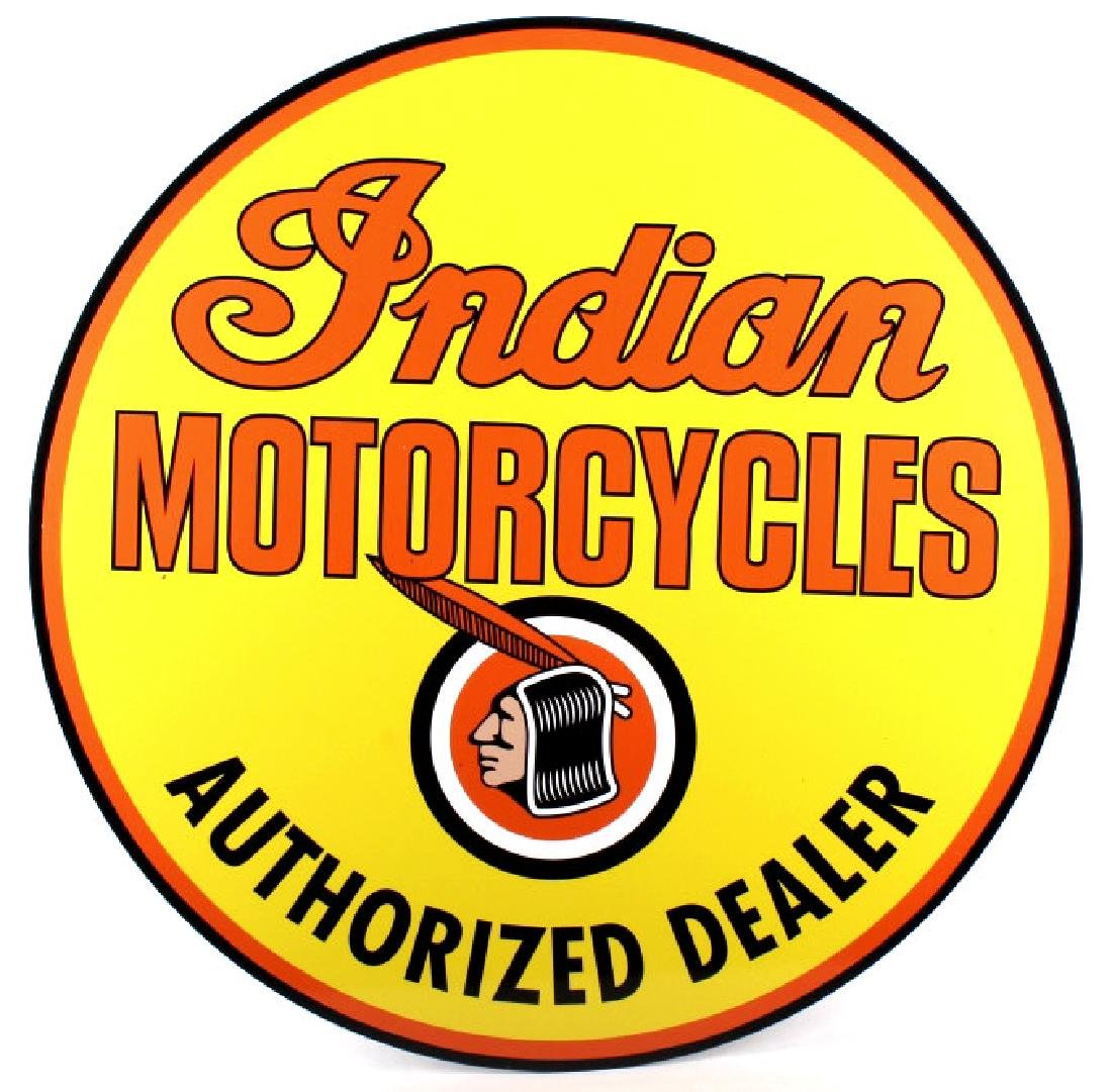 "Indian Motorcycle ""Dealer"" Advertising Sign"