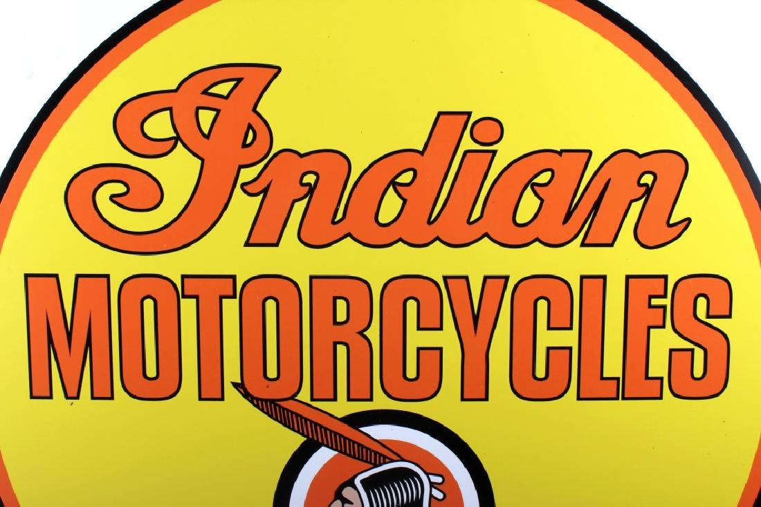 "Indian Motorcycle ""Dealer"" Advertising Sign - 3"