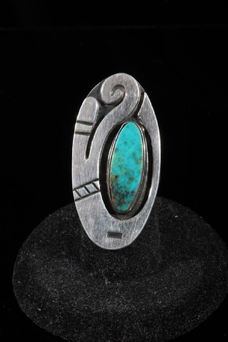 Navajo Turquoise and Sterling Silver Ring - 2