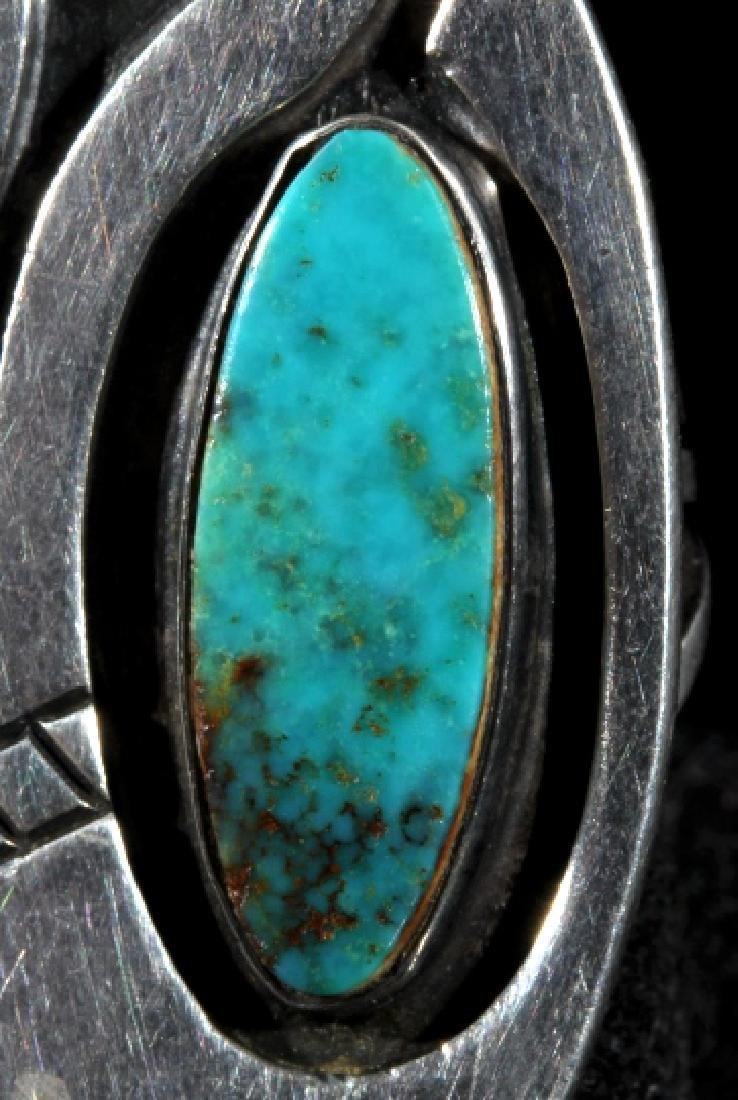 Navajo Turquoise and Sterling Silver Ring - 3