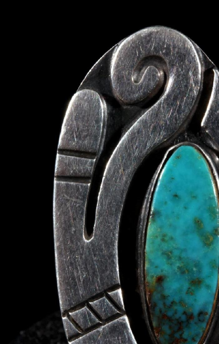 Navajo Turquoise and Sterling Silver Ring - 4