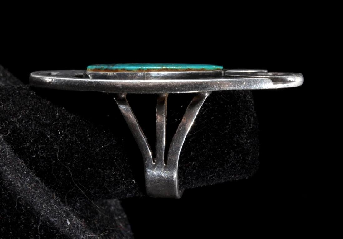 Navajo Turquoise and Sterling Silver Ring - 5