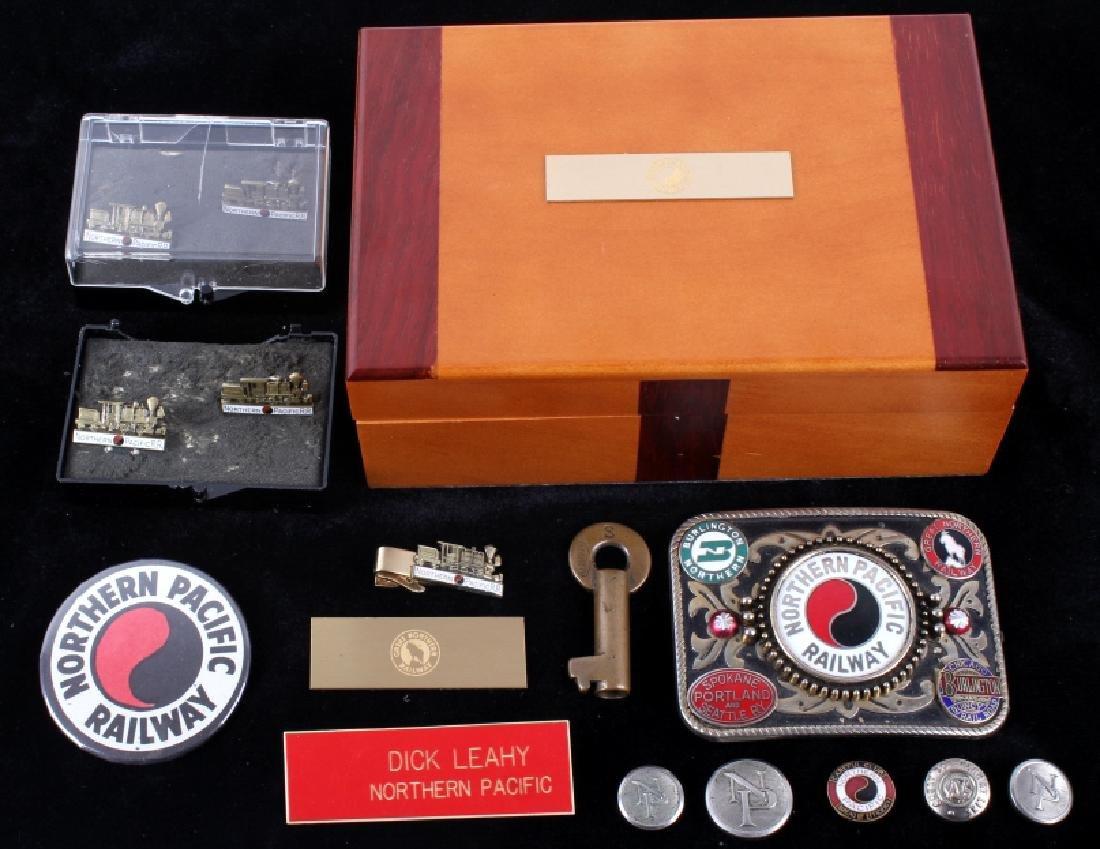 Northern Pacific Railway pocket watch & pins - 2