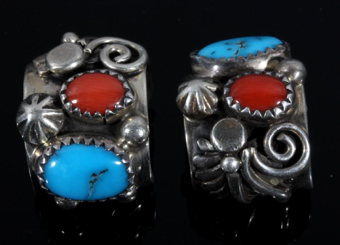 Signed Navajo Sterling Silver Ear Cuff Collection - 10