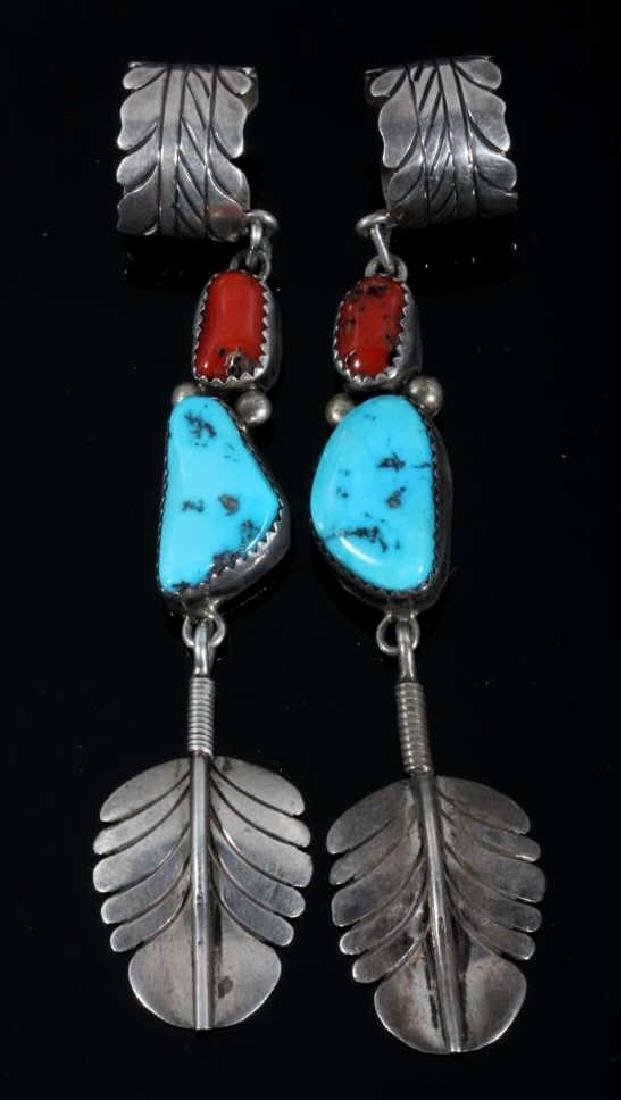 Signed Navajo Sterling Silver Ear Cuff Collection - 2
