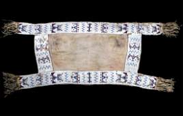 Sioux Fully Beaded Saddle Blanket c. 1850-1880