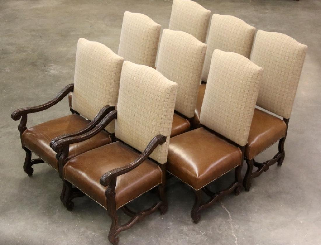 Ralph Lauren Leather Dining Chair Set (8)