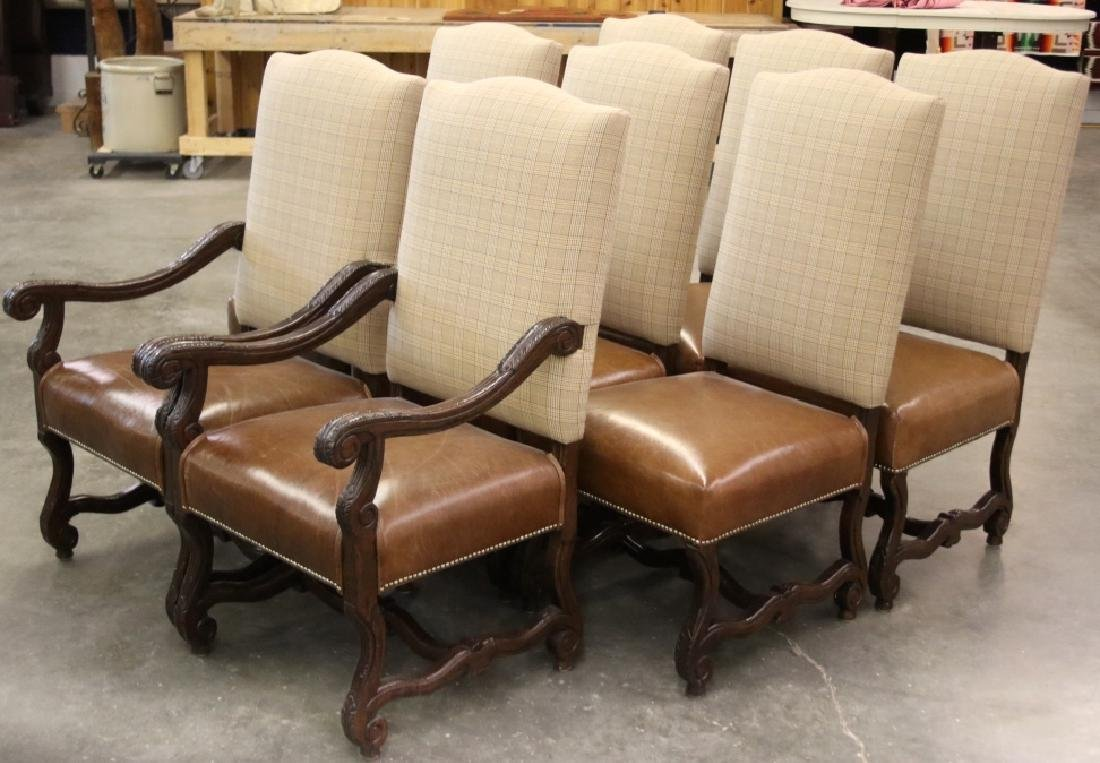 Ralph Lauren Leather Dining Chair Set (8) - 4
