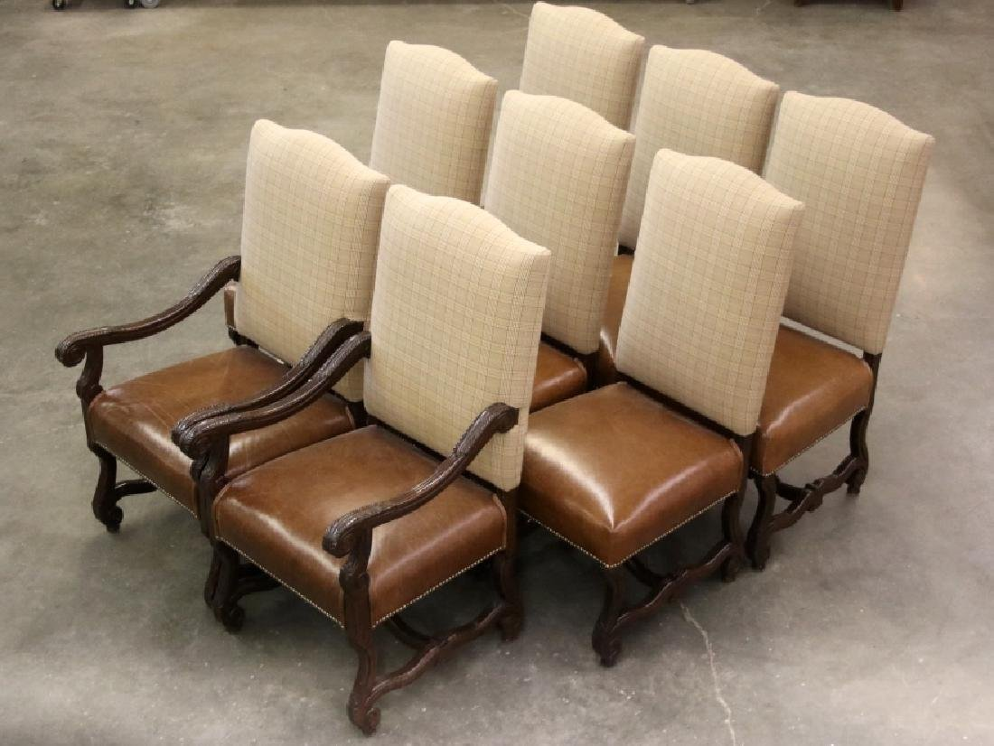 Ralph Lauren Leather Dining Chair Set (8) - 5