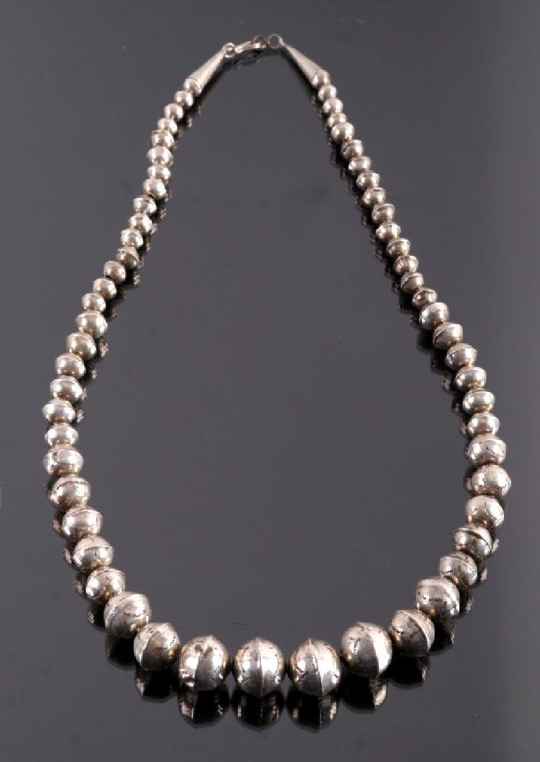 Early Navajo Sterling Silver Necklace