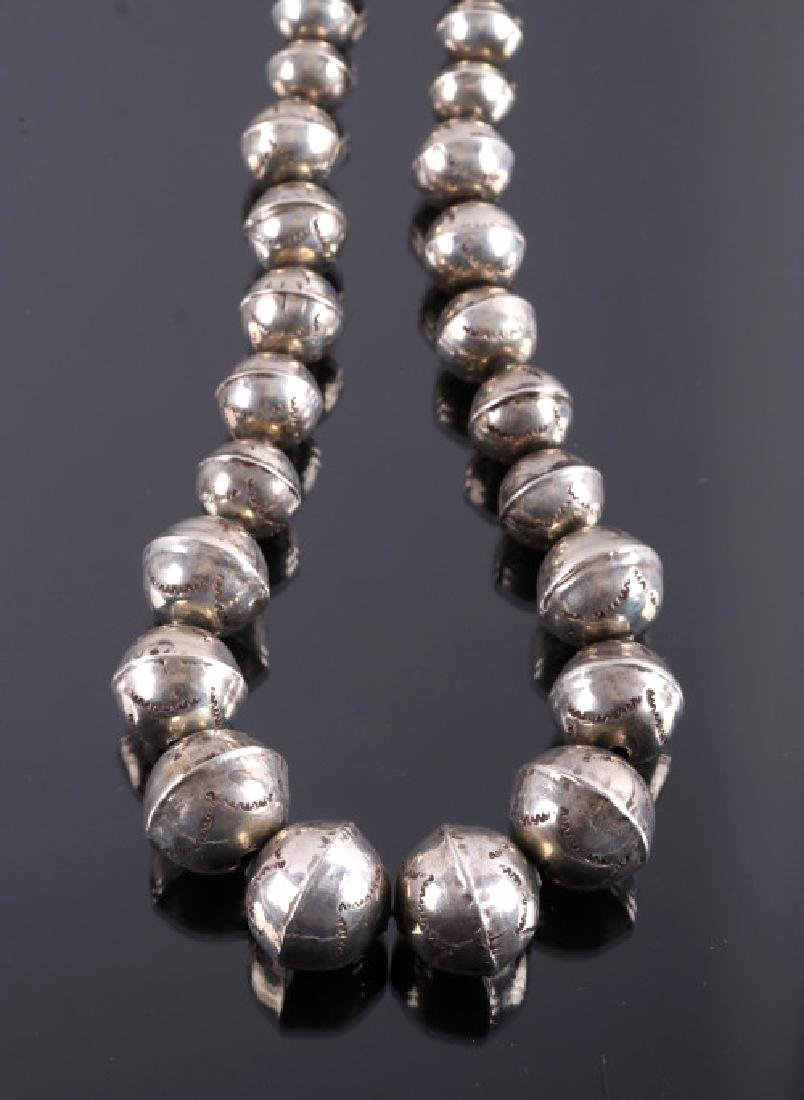 Early Navajo Sterling Silver Necklace - 8