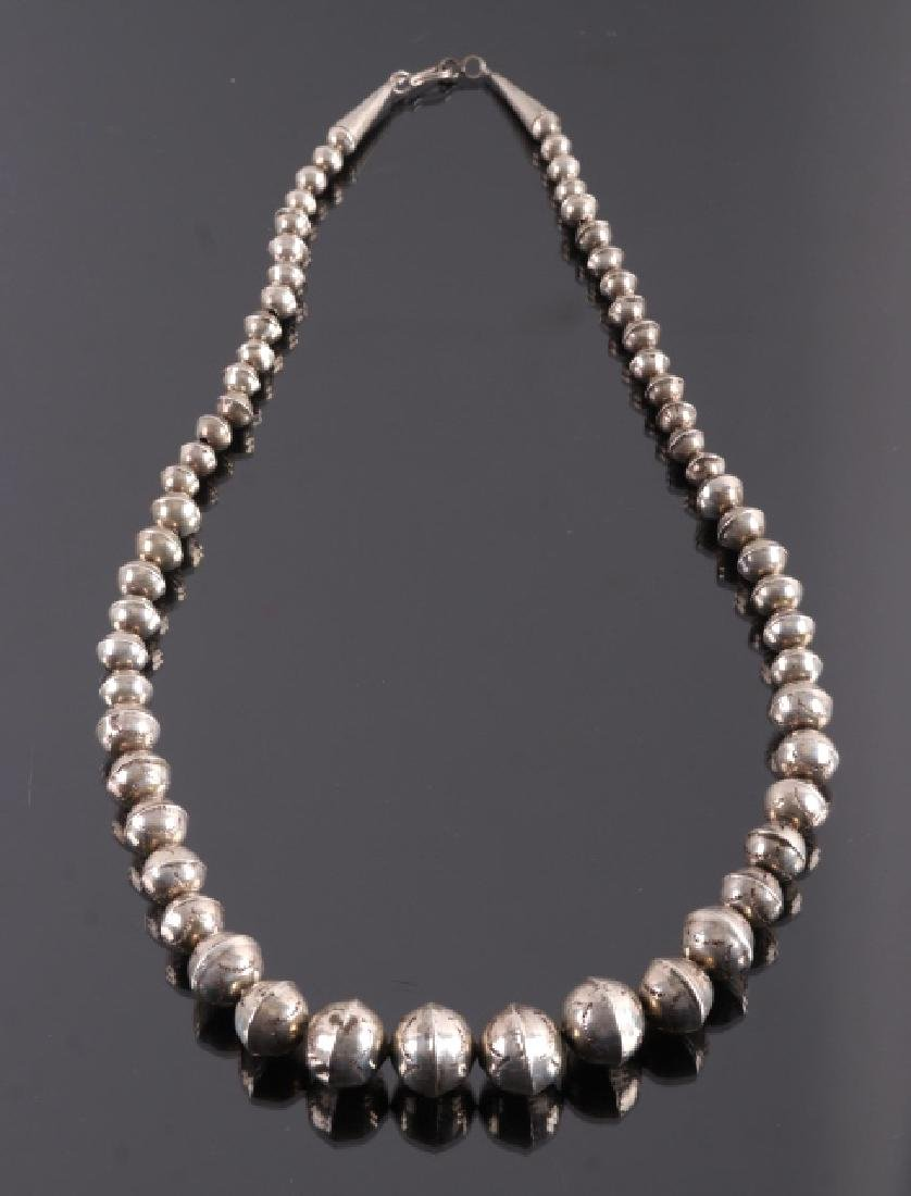 Early Navajo Sterling Silver Necklace - 9