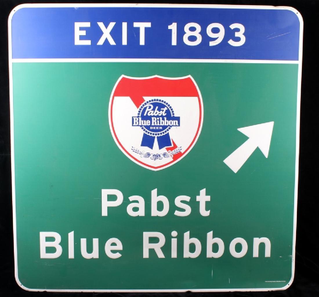 Pabst Blue Ribbon Metal Street Sign - 2