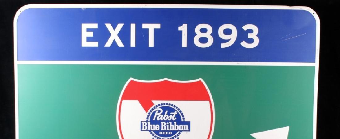 Pabst Blue Ribbon Metal Street Sign - 3