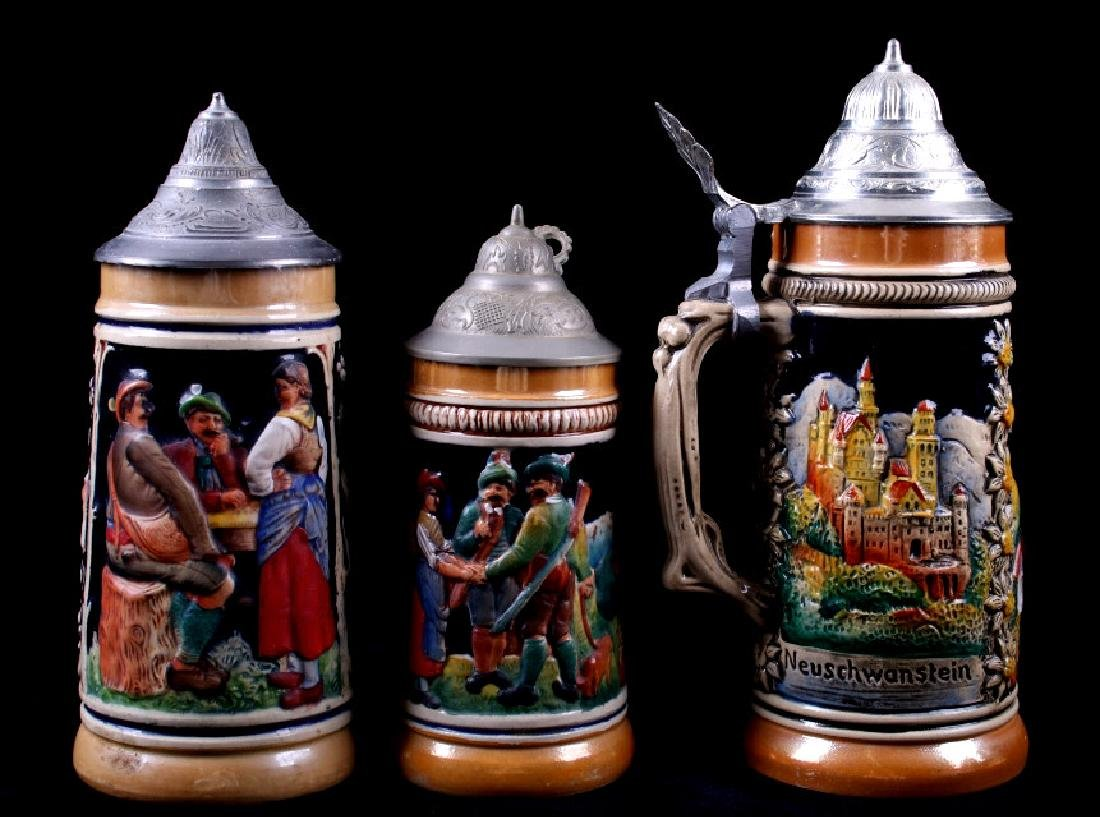 Traditional German Bier Stein Collection - 10
