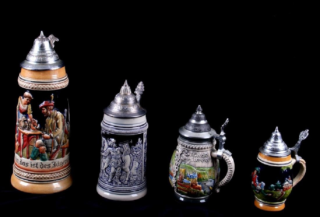 Traditional German Bier Stein Collection - 5