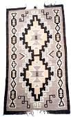 Navajo Two Grey Hills Wool Rug Circa 1925