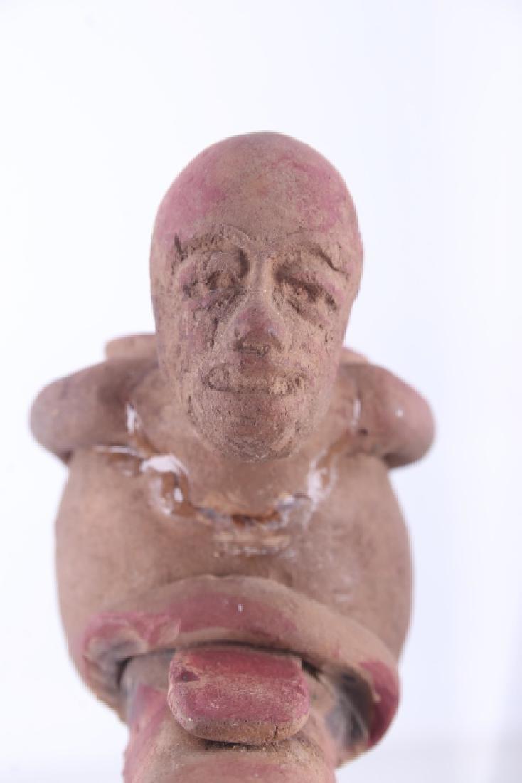 Mayan Fer-de-lance Snake Effigy Pipe 500 A.D. - 8