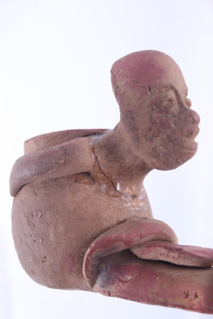 Mayan Fer-de-lance Snake Effigy Pipe 500 A.D. - 9