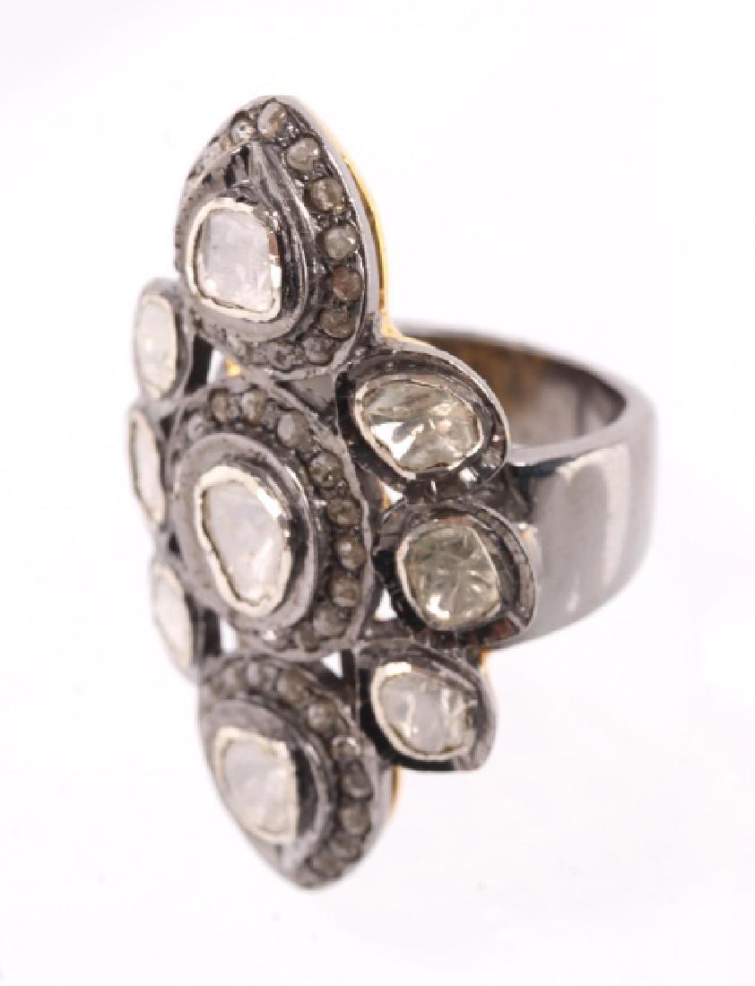 Art Deco Rose Cut & Table Cut Diamond Ring 1920's