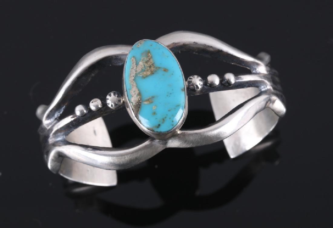 Navajo Ella Peters Bisbee Turquoise Bracelet