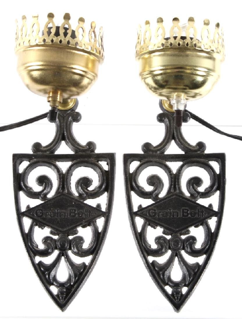 Cast Iron Grain Belt Hanging Wall Sconces