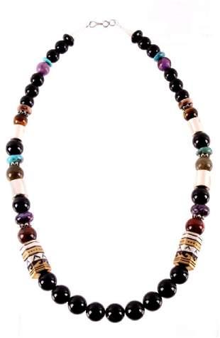 Navajo T&R Singer Multi Stone Necklace