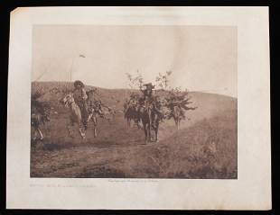 Return with Boughs - Cheyennes by E.S. Curtis 1911