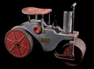 20's Keystone Ride 'Em Steam Roller Steel Toy