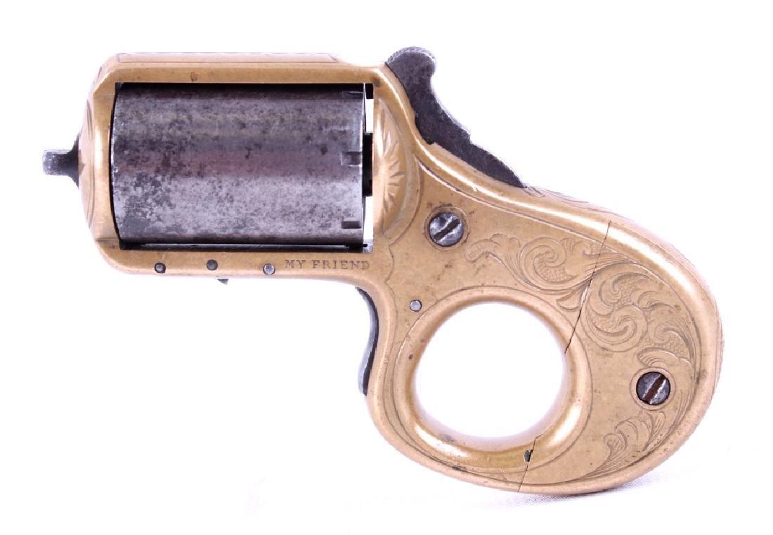 James Reid .22 Cal Engraved Knuckleduster Revolver