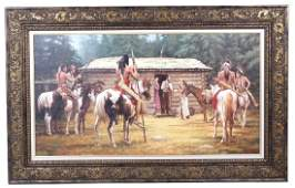 American Indian Original Painting Terpning Student