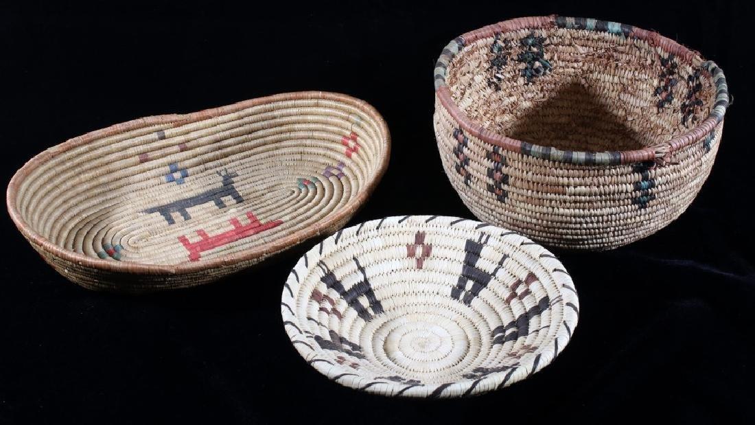 Yoruba African Tribal Hand Woven Baskets