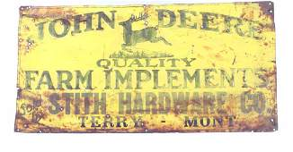 Early John Deere Farm Implements Sign Terry, MT