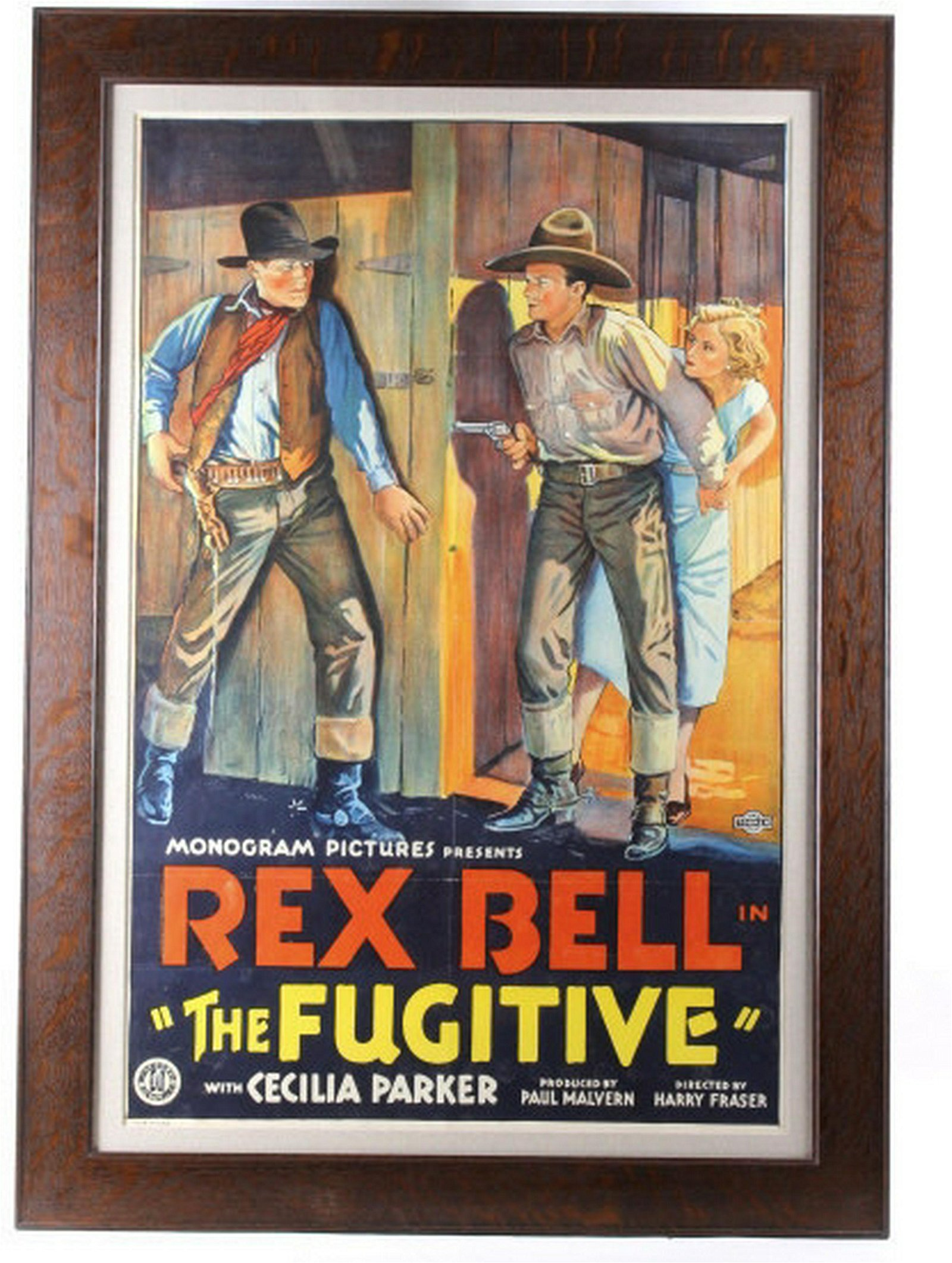 The Fugitive Western Movie Poster c. 1933 Rex Bell
