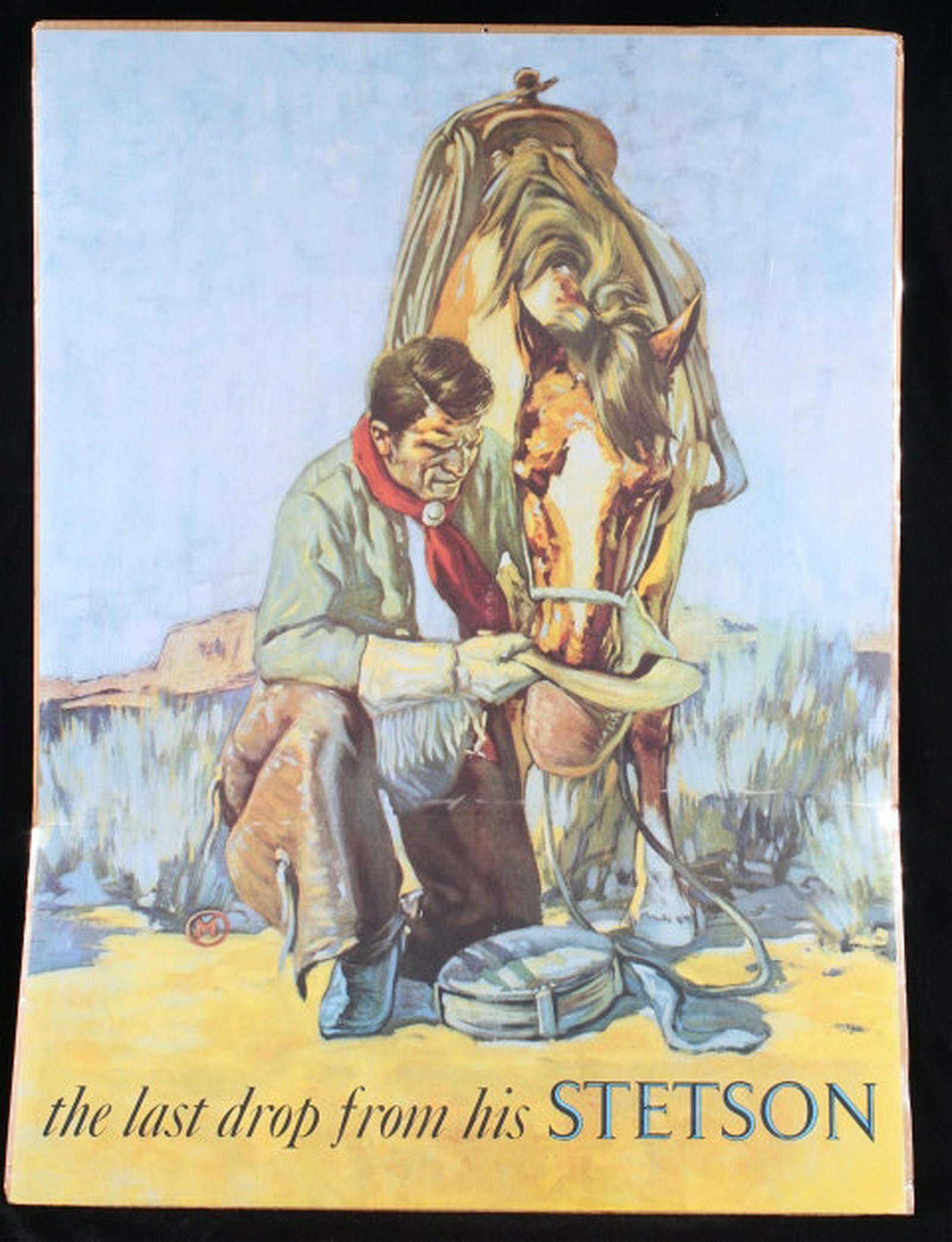 Mid 20th Century Last drop From His Stetson Poster