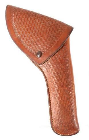 Idaho Leather Company Tooled Revolver Holster