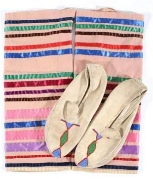 Native American Mulicolored Moccisons Leggings
