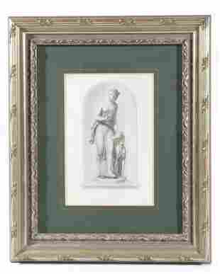 Arethusa Stipple Engraving Print By John Carew