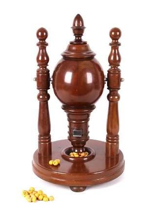 Early Wooden Countertop Keno Goose Tumbler 19th