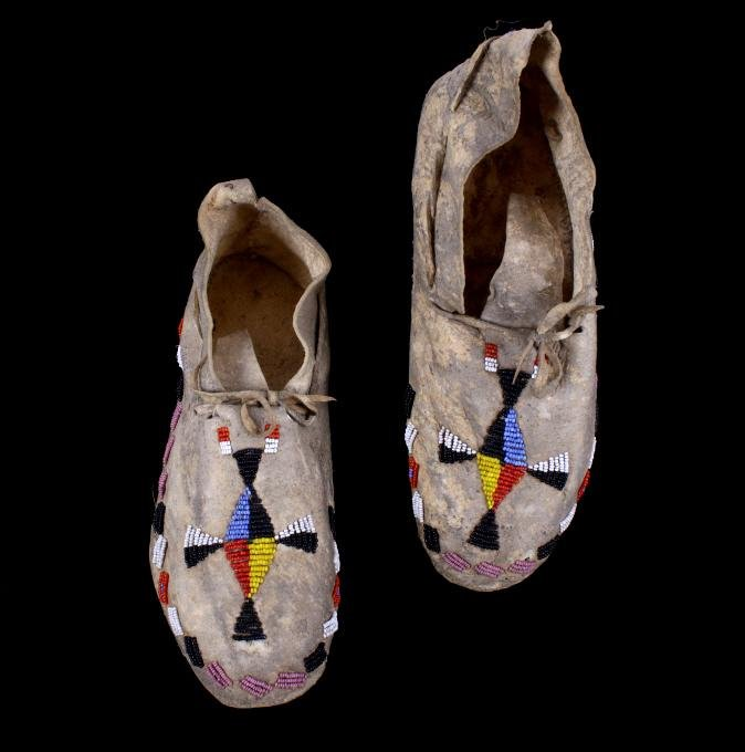 Sioux Beaded Moccasins circa 1890