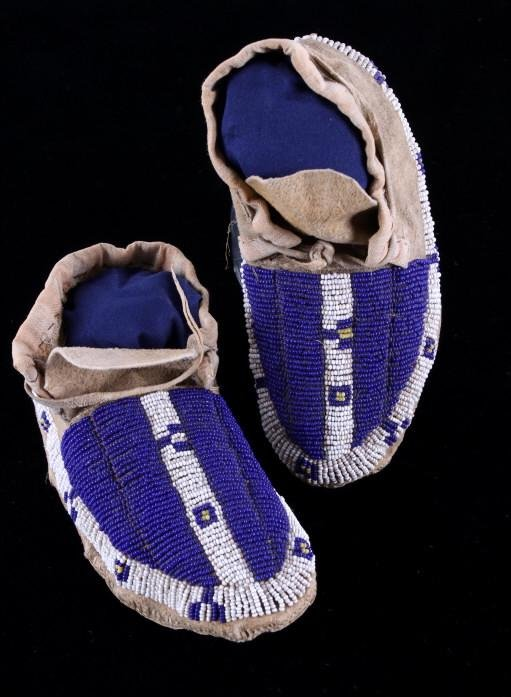 Early 1870's Sioux Beaded Child's Moccasins
