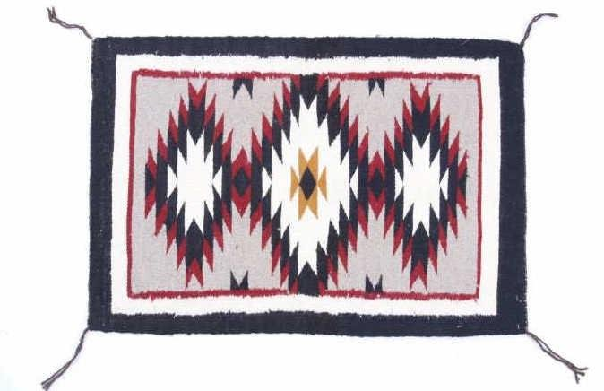 Navajo Two Grey Hills Rug by Betty Marie Nez